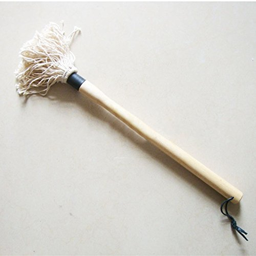 Cotton Basting Mop Wooden Handle BBQ Brush Oil Honey Spice S