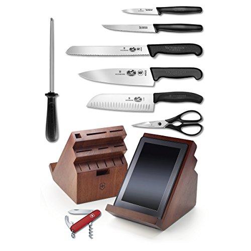 Victorinox Utility Shear - Victorinox Fibrox Professional 13 Piece Swivel Knife Block Set with Free Swiss Army Knife