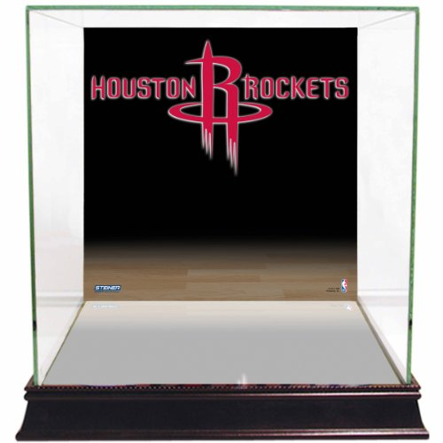 NBA Houston Rockets Glass Basketball Display Case with Team Logo ()