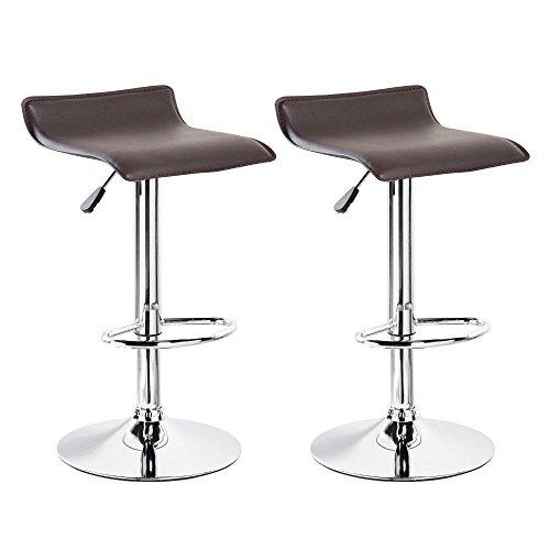 Bar Stool Seat Swivel 2 Set Hydraulic Lift Adjustable Chair Counter Pub Stools Modern - Regency Set Bar Stool