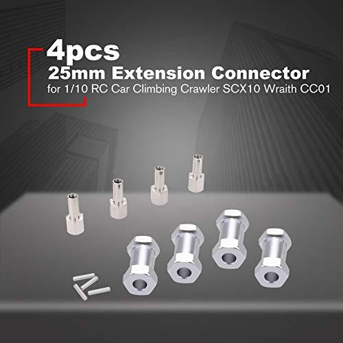 Canaan/_Z 4 St/ück 25 mm Verl/ängerung Steckverbinder 12 mm Radnabe Sechskantantantrieb Adapter f/ür 1//10 RC Auto