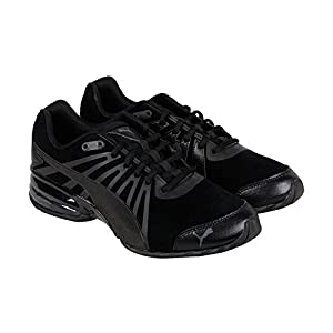 Puma Cell Kilter Nubuck Mens Black Nubuck Athletic Lace Up Running Shoes 10