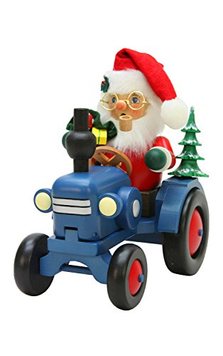 Alexander Taron Christian Ulbricht Decorative Santa on Tractor Incense Burner by Alexander Taron
