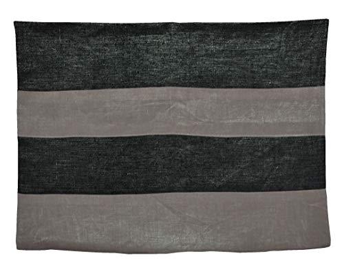 La Mode Couture French Farmhouse Fancy Metallic Linen Black Silver Stripe Sparkle Sham Lumbar Rectangle Reversible Oblong Decorative Rectangular Long Wide Queen Body Pillows Protector Covers 20x60