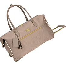 Anne Klein Madrid 22-Inch Wheeled City Bag, Champagne, One Size