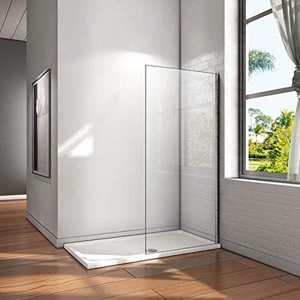 Mampara Ducha FIJA Frontal 1 Fijo ANTICAL INCLUIDO - EstiloBaño© NEW YORK- TRANSPARENTE 8 mm - panel ducha fijo cristal templado - 100 cm (intervalo 97-99) Disponible 70, 75, 80, 90, 100, 110,120: Amazon.es: Bricolaje y herramientas