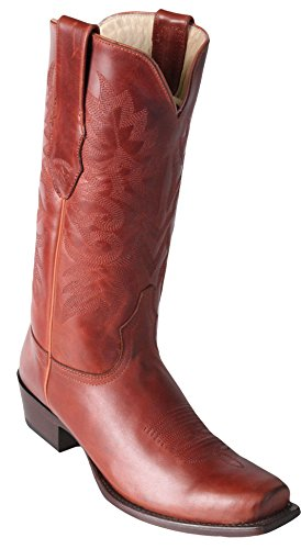 Genuine Cowhide Boots Men's Los Cognac up Altos Skin Boots 7 Western Leather Pull Exotic Toe WIIqZ4