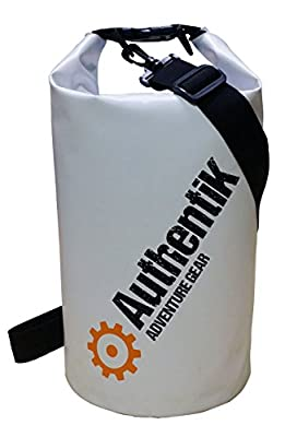 2Pack (1.5L / 10L) Premium Waterproof Heavy Duty Dry Bag 500D PVC by AuthentiK for Boating, Kayaking, Fishing, Rafting, Swimming, Camping, Canoeing and Snowboarding