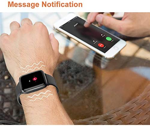 YAMAY Smart Watch 2020 Ver. Watches for Men Women Fitness Tracker Blood Pressure Monitor Blood Oxygen Meter Heart Rate Monitor IP68 Waterproof, Smartwatch Compatible with iPhone Samsung Android Phones 41uCnenYv0L