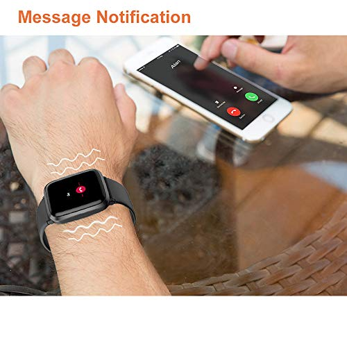 YAMAY Smart Watch 2020 Ver. Watches for Men Women Fitness Tracker Blood Pressure Monitor Blood Oxygen Meter Heart Rate…