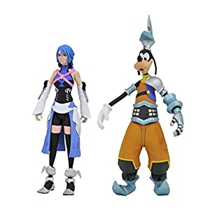 DIAMOND SELECT TOYS Kingdom Hearts Select Series 2: Aqua & Goofy (Birth by Sleep Outfit Version) Action Figure Set
