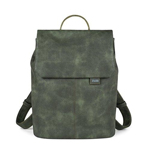 Zwei Mademoiselle MR13 - Bolso mochila  para mujer verde verde oliva -