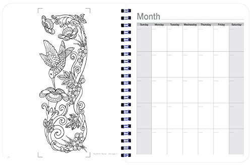 Undated Coloring Day Planner (8.5 x 11 inches) Large - Weekly ...