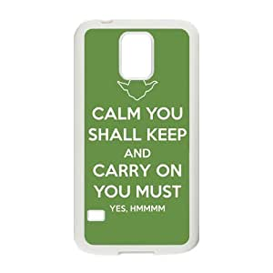 Yoda Samsung Galaxy S5 Case Customize Star Wars Character Yoda Case Cover Protective Cases (Laser Technology)