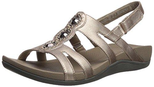 CLARKS Women's Pical SERINO Platform, Pewter Leather, 7 Medium US