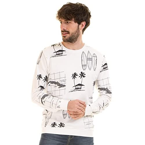 chic Sudadera surfera hombre onsLarry de Only and sons (L - Blanco ... 8068ee774e4