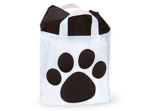 PICCOLO Paw Print Studio BagsFrosted Shopping Bags 12 x 10 x 4'' 1 unit, 250 pack per unit.