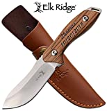 Elk Ridge Personalized Laser Engraved Fixed Blade Knife, Groomsmen Gift, Graduation Gifts, Gifts for Men, (ER-200-03D)