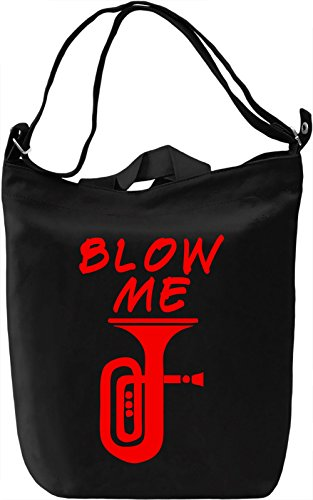 Blow me Borsa Giornaliera Canvas Canvas Day Bag| 100% Premium Cotton Canvas| DTG Printing|