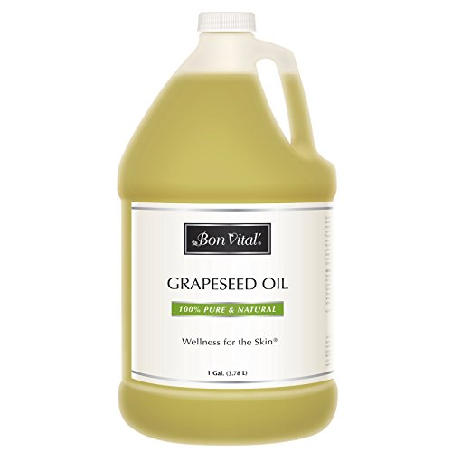 (Massage Oil by Bon Vital, Grapeseed Oil, 100% Pure Skin Toner & Massage Oil, 1 Gallon)