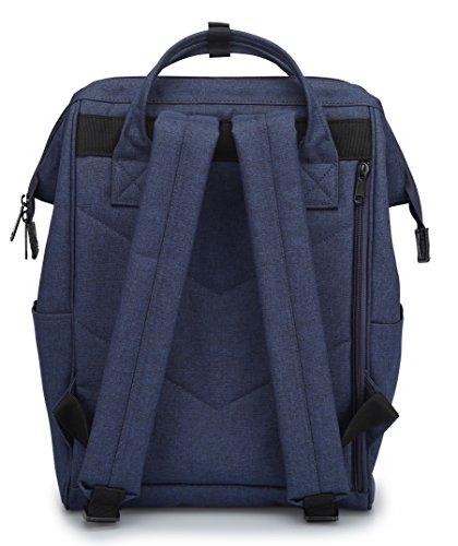 Himawari Travel Backpack Laptop Backpack Large Diaper Bag Doctor Bag Backpack School Backpack for Women&Men (Scrub Blue) by Himawari (Image #4)