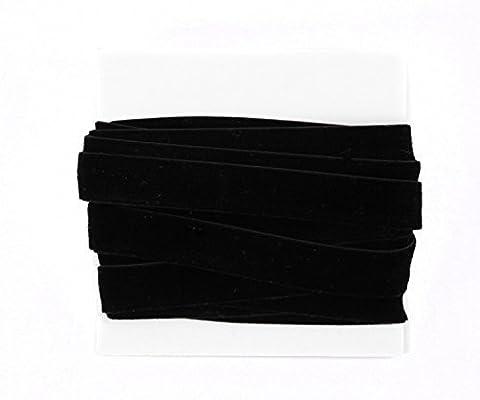 Velvet Ribbon Lace 5/8th Inch - 5 yard bundle - Black