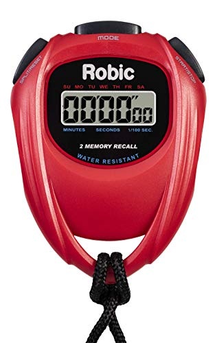 Robic 429-67995 Easy to Use High Presision Stopwatch, Red