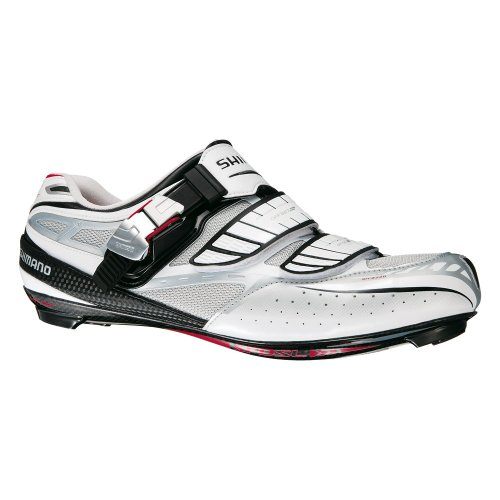 Shimano R240Race Zapatos–Blanco/Plata/Rojo | Zapatillas de Carretera SPD-SL