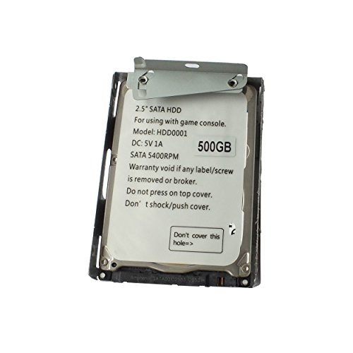 OSTENT 500GB HDD Hard Disk Drive + Mount Bracket Compatible for Sony PS3 Super Slim CECH-4X