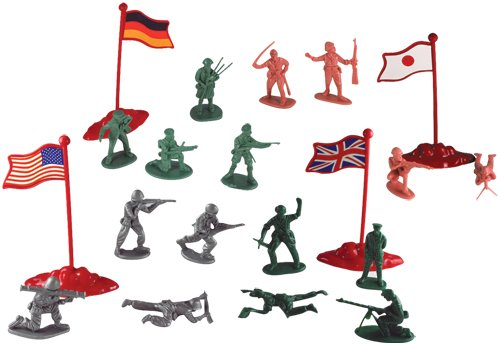WowToyz Military Figures in Carry Bucket 200-Piece Set