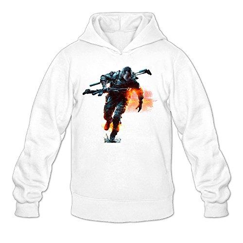 QK Battlefield Men's Cool Hoodies S White