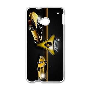 Lamborghini HTC One M7 Cell Phone Case White MSY215851AEW