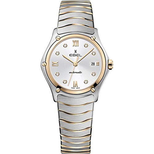 Ebel Women's Sport Classic Diamond 29mm Two Tone Steel Bracelet Steel Case Swiss Quartz Watch 1216429A