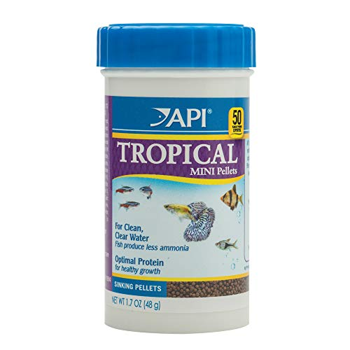 API Tropical Pellets Sinking Pellets Fish Food 1.6 oz Container