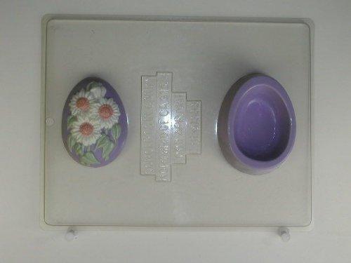 Medium egg decorated w/ sunflowers, lid & bottom E111 Easter