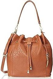 Vince Camuto Knox Drawstring Shoulder Bag,Redwood,One Size,Redwood,One Size