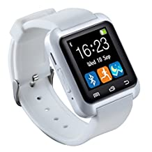 SURMOS Health Smart Watch U80 Wrist Watch Sport with Bluetooth 3.0 Music Alarm for IPhone Android Phone Watch (White)