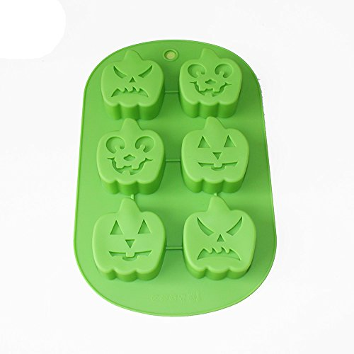 Pumpkin Cake Mold (X-Haibei Pumpkin Soap Jello Ice Cream Cake Chocolate Silicone Mold 6-cavity Soap Making Moulds)