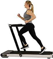 Sunny Health & Fitness Asuna Premium Slim Folding Treadmill with Spea