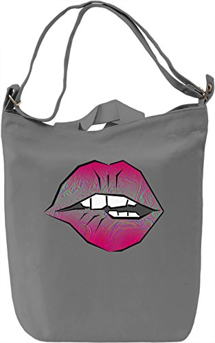 Psychedelic Lips Borsa Giornaliera Canvas Canvas Day Bag| 100% Premium Cotton Canvas| DTG Printing|