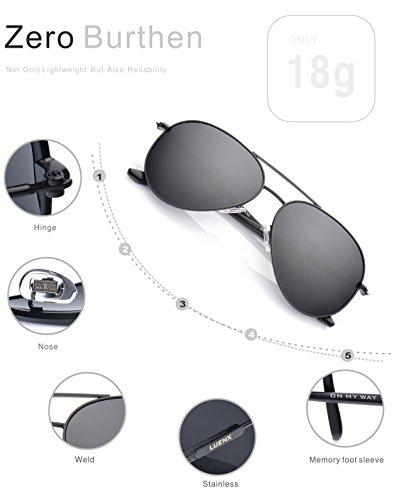 5db41421b5 LUENX Men Aviator Sunglasses Polarized Women - UV 400 with case 60MM