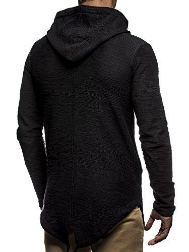 LEIF NELSON Men's Hoodie Medium Black