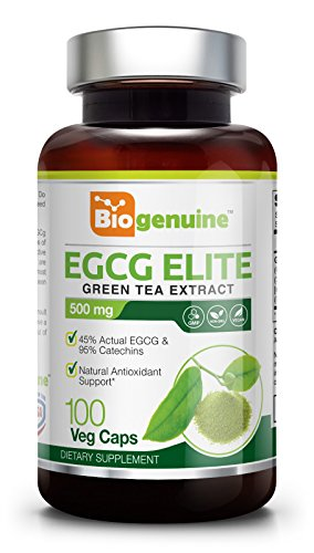 Green Tea Extract EGCG 500 mg 100 Vcaps - Weight Loss | Free Radical Scavenger | Boost Metabolism | Heart Health | Natural Caffeine | Gentle Antioxidant | Energy