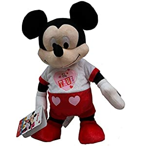 Valentines Mickey Mouse Animated Plush Stuffed Animal Dances Musical 12 inch