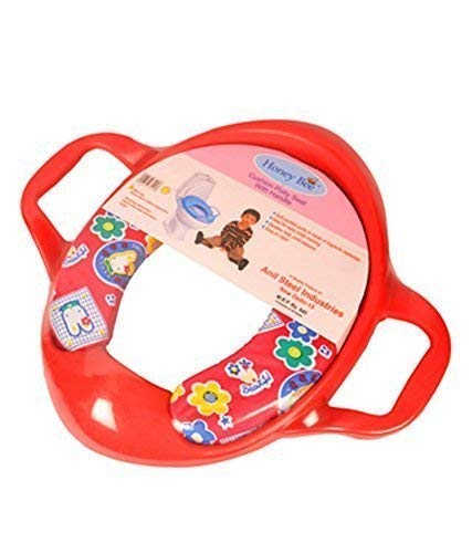 HONEY BEE Toyboy Soft and Durable Full Cushion Assorted Potty Trainer Seat with Handle  Red