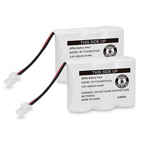 QTKJ BT17333 BT27333 Battery Compatible Vtech Cordless Phone BT17233 BT27233 BT163345 BT263345 CS2111 at&T 01839 Sanyo CLT3500 GESPCH06 Radio Shack CS90174 12280731 23-956 23-9069 (2-Pack)