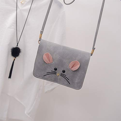 Motif Bag Mignon Mobile Crossbody monnaie gris Porte Payonr D'épaule Sac Souris Shoulder Envelope UfxwPIxq