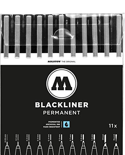 Molotow Blackliner Pen Complete Set, 11 Pens, 1 Set Each (200.485) by Molotow (Image #9)