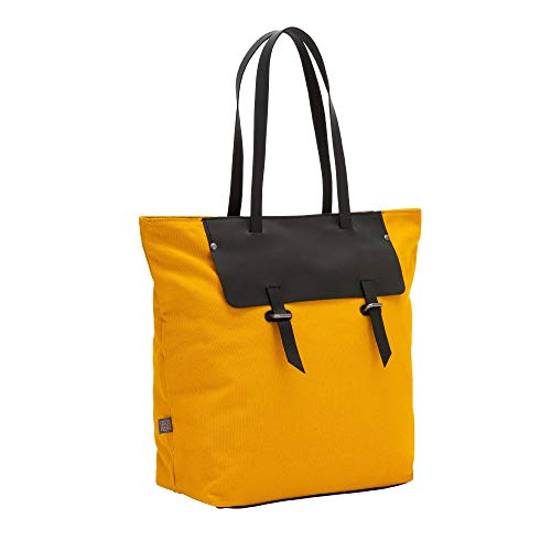 Borsa da Shopper Chiusura Canvas Grande Pelle Cerniera Con DUDU e in Shopping Bicolore a Donna Bag Jaune Tote wFAcH