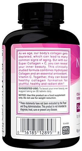 41uCuHXGFyL - NeoCell Super Collagen + C - 6,000mg Collagen Types 1 & 3 Plus Vitamin C - 120 Tablets (Packaging May Vary)